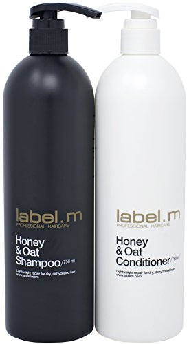 Label.M Honey & Oat Shampoo & Conditioner Twins (750ML) Daily Shampoo & Conditioner Moisturizes, Nourishes, Protects Dry & Damaged Hair. Manuka Honey Repairs Hair Damage & Leaves Hair Soft & Healthy