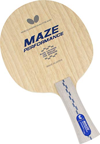 Butterfly Maze Performance Table Tennis Blade - 5-Ply All-Wood Blade - Maze Performance Blade - Professional Table Tennis Blade - Flared Shakehand Handle Style - Made in Japan