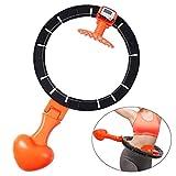Hugomega Smart Hula Hoop Reifen Fitnesskreis Gewichtsverlust Schlankheits Kreis intelligente Zählen Abnehmbare Hula Hoop für Gewichtsverlust Fitness-Training für Erwachsene, verstellbare Taille