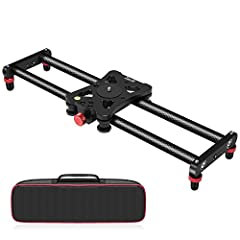 15.7 inch portable size,lightweight 600g/21.16oz,coming with a scratch-resistant carrying bag, it is perfect to be packed in your backpack or luggage for travelling anywhere. The camera tracking slider featured with four precision bearings and double...