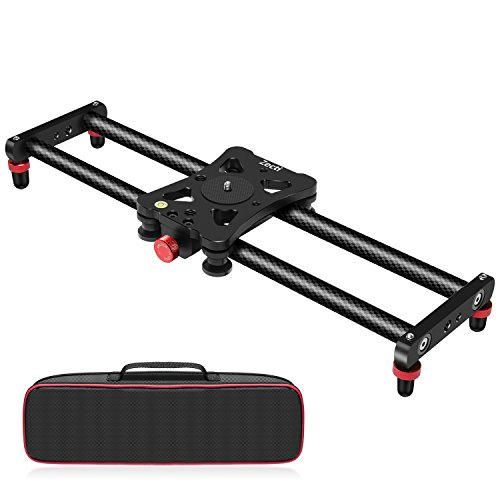 Zecti Camera Slider, 16 inches/40 Centimeters Adjustable Carbon Fiber Camera Dolly Track Slider Video Stabilizer Rail for Camera DSLR Video Movie Photography Camcorder Stabili