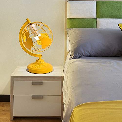 Lámpara Escritorio Lámpara dormitorio Dormitorio Creativo Personalidad LED Faro for estudiantes Lectura Escritorio Lámpara Globos Moda Simple Lámparas for niños 1 * E27 (28 * 38cm) ( Color : Yellow )