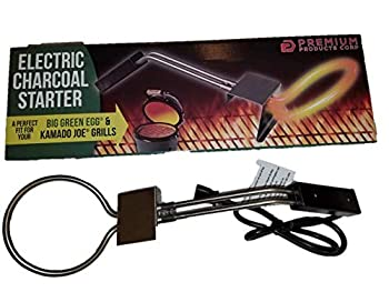 Premium Electric Charcoal Starter Products Perfect for Big Green Egg Kamado Joe & Weber Kettle Grills - Adjustable Height 600 Watt Strong and A One Year Warranty - Great for Lump Charcoal