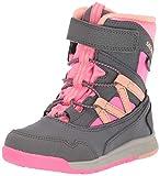 Merrell Kids' Unisex M-Snow Crush Jr Wtrpf Snow Boot, Grey/Coral, 09.0 M US