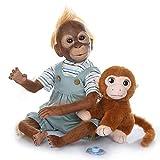 Muñecas Reborn Cuna Renace mono reborn Silicona Vinilo Muñeca 21 pulgadas Bebé reborn recién nacido Muñeca Mira Reallife Piel de mono azul Los mejores regalos Sorpresa bebe reborn silicona(21Inch-F)