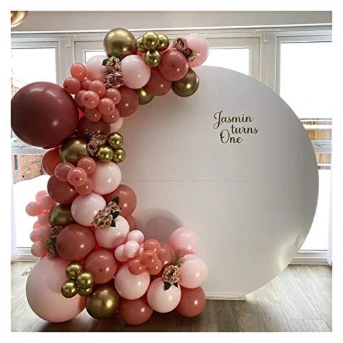 JSJJAEA Globos de números 82 piezas retro de pasta de frijoles con forma de globo, juego de guirnaldas, color rosa polvoriento para fiestas de cumpleaños, decoración perfecta (color: 82 piezas)