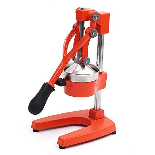 Switol Manual Citrus Juicer, Commercial Grade Orange Juice Press, Heavy Duty Lime Squeezer Stand (Orange)