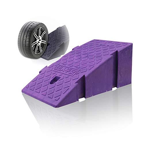 Baiyin Rampa Goma Cojín De Silla De Ruedas Alfombra De Carretera Pendiente Pendiente Pedal Antideslizante PVC Rampa De Auto Usar Costuras 2 Tamaños, 4 Colores (Color : Purple, Size : 25X40X16C
