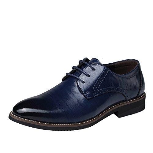 Zapatos de vestir de moda para hombre con punta puntiaguda con cordones...