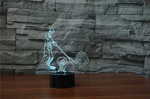 Geschenke für Ihren Freund Gaming Lights Golfball 3D Visual Illusion Lampe Transparent Acryl Nachtlicht Led Fairy Lampa Farbwechsel Touch Table Bulbing Lambas mit Fernbedienung