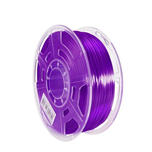 Haude 3D Printer Consumables Silk PLA High Gloss 1.75mm Printing Filament High Translucent 1KG FDM Wire,Purple