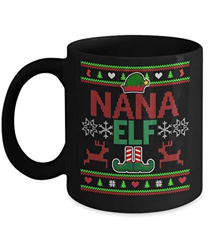 shenguang Nana Elf Christmas grandmother Jarra, Be Nice to my Grandma SANTA is Watching Jarra, Nana Santa - Christmas Gift, Nana Elf Jarra