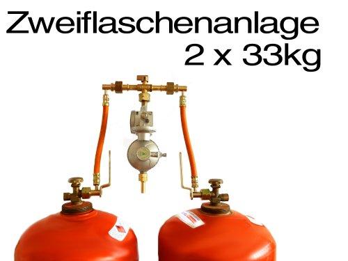 Zweiflaschenanlage für zwei 33 kg Flüssiggas Gasflaschen