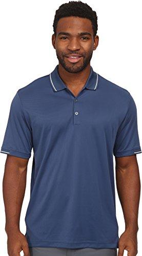 adidas Golf Climachill Solid Polo para hombre - TM3036S5, L, blanco (Night Marine/White)
