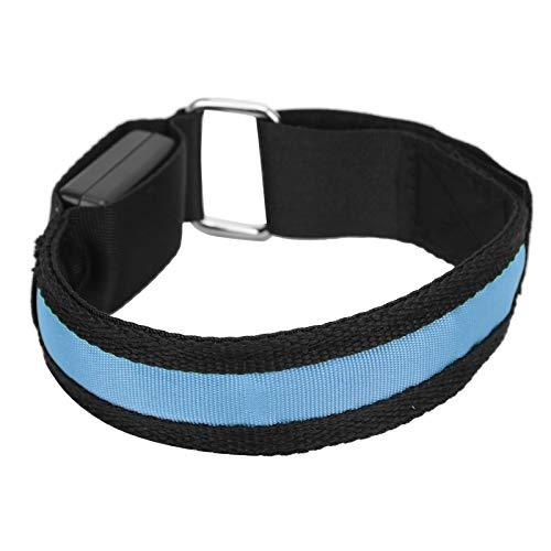 Caiqinlen Pulsera LED para Correr, Brazalete LED Ligero y cómodo de Llevar para Deportes al Aire Libre para Fitness para protección Deportiva para Entrenamiento Muscular(Blue)