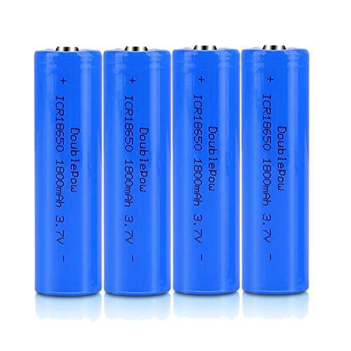SIMEEGO 4 PCS 18650 Rechargeable Li-Ion Battery, 1800mAh 3.7v Battery,...