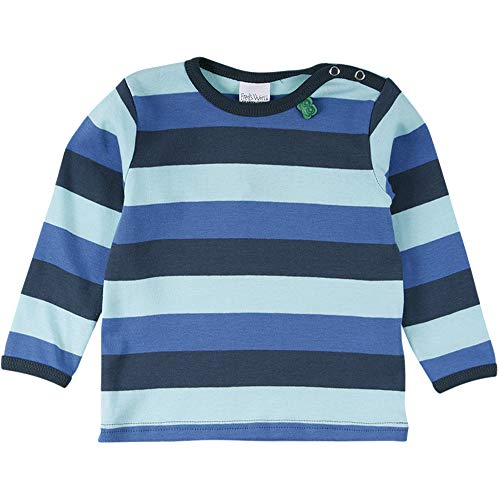 Fred'S World By Green Cotton Multi Stripe T Baby T-Shirt, Multicolore (Blue 019403901), 68 Bébé garçon