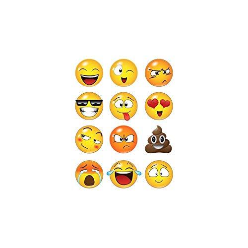 DIY adhesivos de pared creativo del Smiley decorada con caras de pared etiqueta de dibujos animados para los niños,10 pulgadas x 12 emoticons
