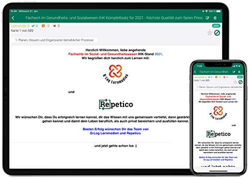 Lernkarten (689 Stück) als App für den Fachwirt im Gesundheits- und Sozialwesen | Auflage 2021 | Komplettsatz mit allen 6 Fächern für iOS | Android | Web