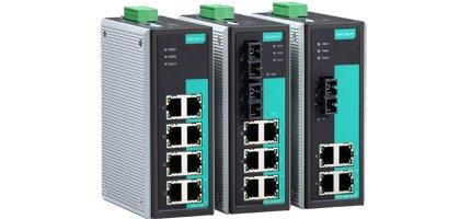 MOXA EDS-305-S-SC-T 4 10/100BaseT(X) Ports, 1 100BaseFX Port, Single Mode SC, Smart Relay Output Alarm, w/ -40~75 C