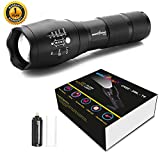 amiciVision Metal LED Torch Flashlight XML T6 Water Resistance 5 Modes Adjustable Focus