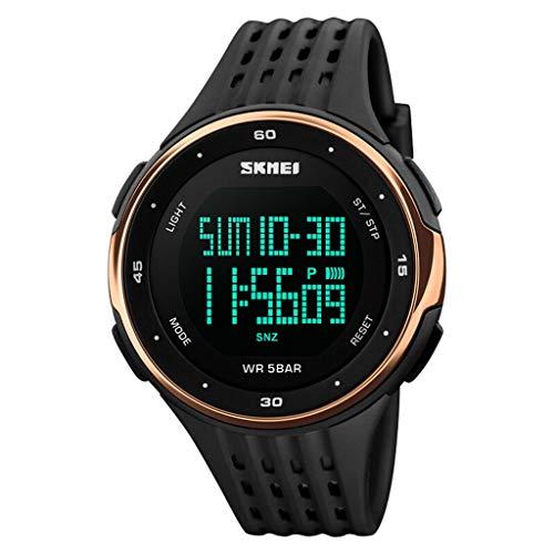 FGF Digitale sport horloge voor de mens, Mannetjes Waterdichte Elektronische Horloges Grote Analoog Duurzaam Polshorloge 123
