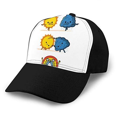 HONGYANW Gorra de béisbol Meteorológica Fusion Dragon Ball Z Weather Dad Sombrero Ajustable Transpirable para Hombres Mujeres Negro