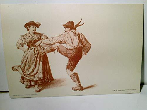 Paul Knäbchen in Zöblitz. Künstler Litho / AK s/w. Verlag Gerlach & Schenk in Wien No 31. Tanzendes Paar in Tracht, ca 1900 ungel. Brauchtum, Trachten, Tanz, Kunst