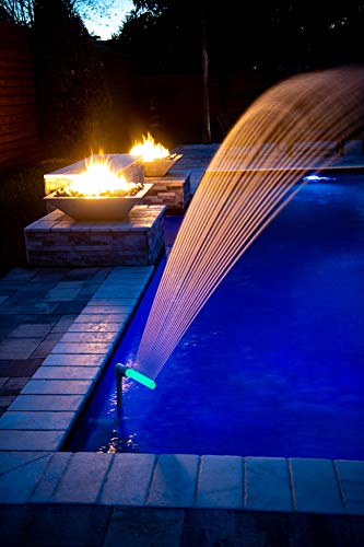 "Pool Fountain Swimming Pool Accessories - Waterfalls Cool Warm Pool Water Temperatures, Sprinkler Aerates for Fresh Pool Water, Fits 1.5"" Threaded InGround & Above Ground Pool Fountains Return Jets"
