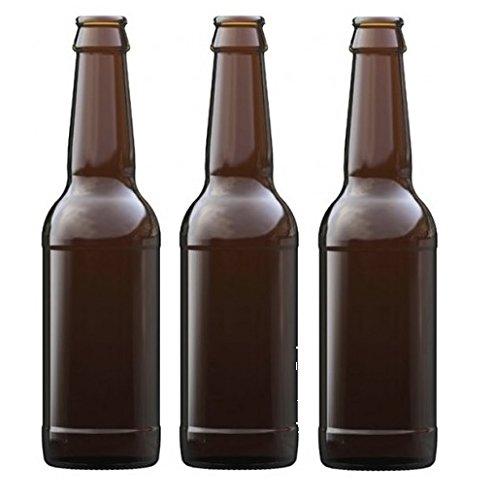 Nutley GLA502BB012Ambra Bottiglie di Birra, Marrone, 330ml