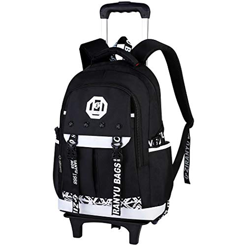 Bageek Cartable a Roulette Garcon Sac Roulette Garcon Cartable Fille Primaire à Roulette Sac a Roulette Fille Cartable Primaire Roulette Sac a Dos College