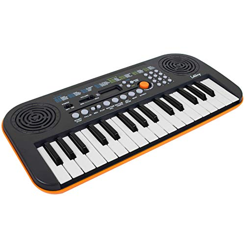 Kmise Mini Keyboard Piano 32 Key Small Portable Digital Electronic Keyboard with 30 Demo Songs Musical Gift for Beginners Kids