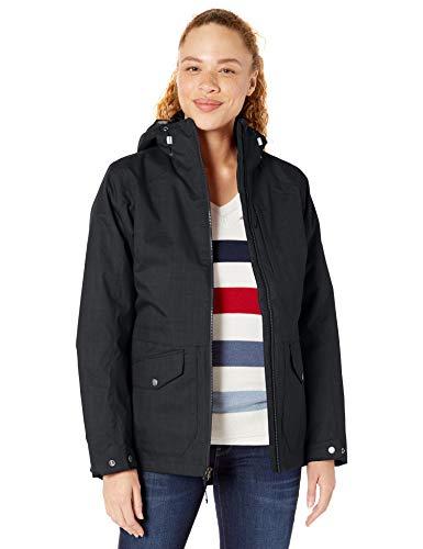 Columbia Women's Plus Size Mount Erie Interchange Winter Jacket, Waterproof and Breathable, Black, 3X