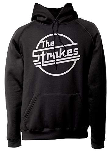 LaMAGLIERIA Unisex-Hoodie The Strokes - Classic Logo White Print - Kapuzenpullover Indie Rock Band, XL, schwarz
