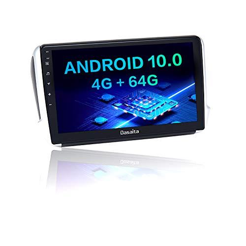 "Dasaita Autoradio Bluetooth Per Peugeot 2008 208 2012 2013 2014 2015 2016 2017 2018 Carplay Android Auto AM FM Radio Dab GPS Wifi 1Din Android 10.0 Stereo Auto 4G RAM+64G ROM 10.2"" DSP"