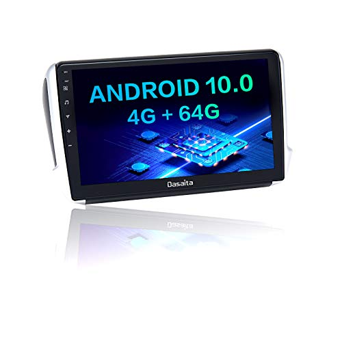 Dasaita Autoradio Bluetooth Per Peugeot 2008 208 2012 2013 2014 2015 2016 2017 2018 Carplay Android Auto AM FM Radio Dab GPS Wifi 1Din Android 10.0 Stereo Auto 4G RAM+64G ROM 10.2' DSP