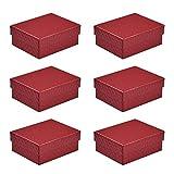5 cajas de regalo para pulsera y collar, caja de regalo de cartón rojo para joyas, pulsera, caja de regalo de 9,8 x 7,8 cm