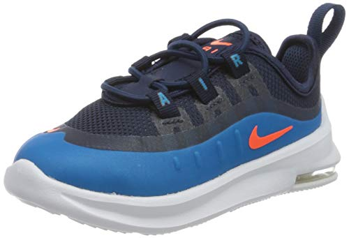 Nike Unisex Baby Air Max Axis (Td) Sneaker, Midnight Navy/Hyper Crimson-Laser Blue, 27 EU