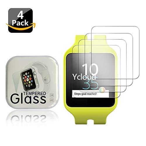 Ycloud [4 Stück PET Schutzfolie Bildschirmschutzfolie für Sony SWR50 Smartwatch 3 HD klar Flexible Folie mit Anti-Kratzer Blasenfrei