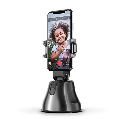 Selfie-Stick, 360 ° drehbar, automatische Gesicht- und Objektverfolgung, Smart-Shooting-Kamera-Handy-Halterung, kompatibel mit iPhone 11 Pro Max/XS Max/XR/8+/Android und allen Handys
