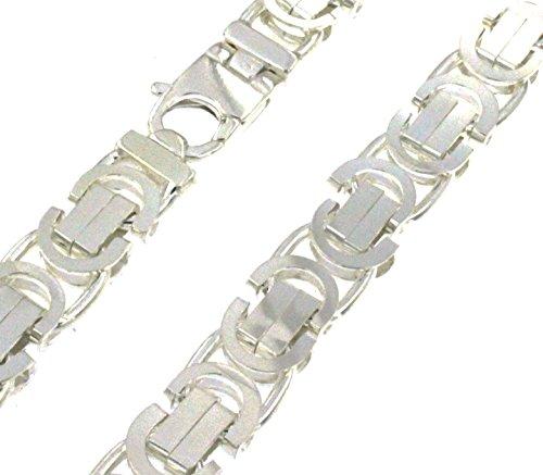 Königskette massiv 925 Silber 11 mm 75 cm Halskette Silberkette Herren-Kette Damen Geschenk Schmuck ab Fabrik Italien tendenze