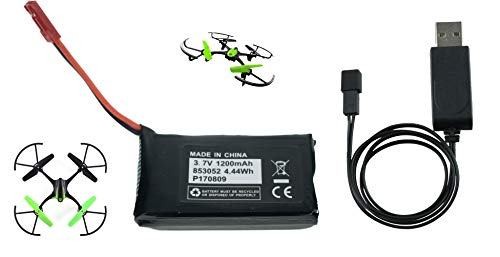 Set of Battery and Charger for Sky Viper S1700 S1750 Drones Battery 3.7v 1200mAh High Capasity High Discharge