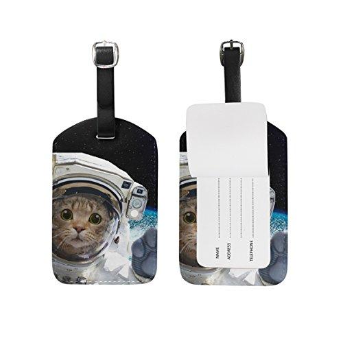 U LIFE Cat Galaxy Planet Universe Space Star Luggage Tag Travel Baggage Tags