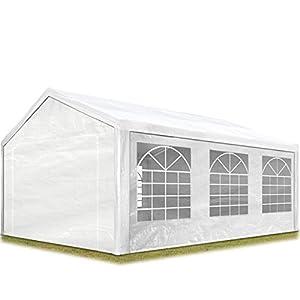 TOOLPORT Carpa para Fiestas 3x6 m en Blanco Lona PE 180 g/m² Impermeable Carpa para el jardín con protección UV