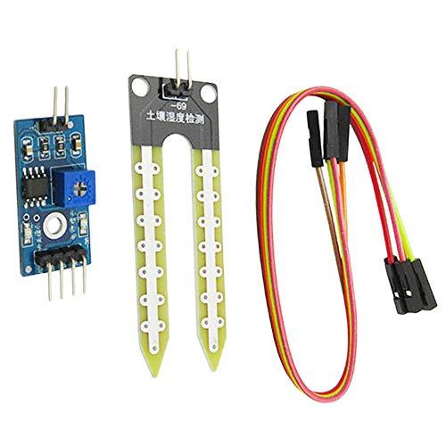 Humidity Detection Module, Soil Hygrometer, Moisture Water Sensor Soil Moisture for arduino DIY Kit,Black