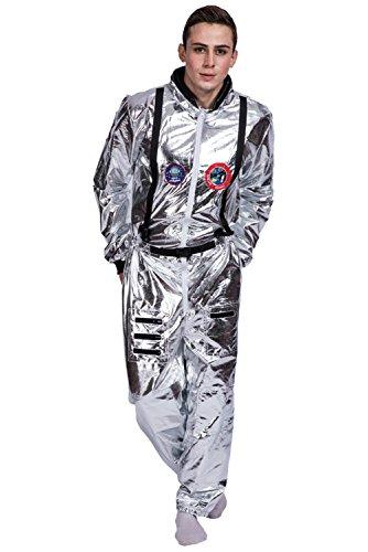 Snuter Traje de Astronauta Traje Espacial Adulto Plateado Mono de Astronauta para ninos Carnaval de Halloween Astronauta Cosplay