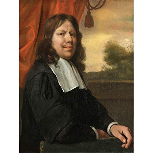 Jan Steen zelf-portret, Dutch Painting Art Print Canvas Premium Wall Decor Poster Mural Portrt Nederlands schilderij muur decoratie