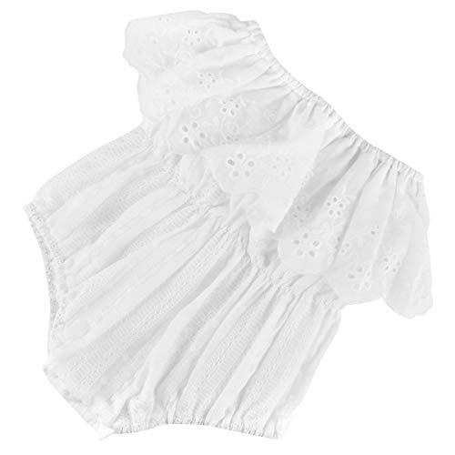 Tianhaik Peuter Baby Meisje Romper Zomer Wit Korte mouw Bodysuit Eendelig Jumpsuit voor 1-4 Jaar