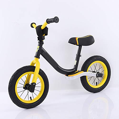 Non-Pedal Children's Balance Bike for 1,2,3,4,5,6 Year Old Children, Slide-Free Bicycle Without Pedals, Two-Wheeled Baby Bicycle,Best Gifts,Yellow