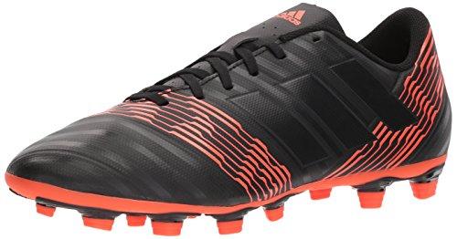 adidas Men's Nemeziz 17.4 Fxg Soccer Shoe, Core Black/Core Black/Solar Red, 10.5 M US